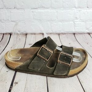 Birkenstock Copper Buckle Slide Womens 38 Shoes